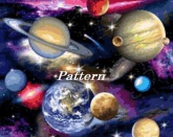 Space. Cross Stitch Pattern. PDF Files.