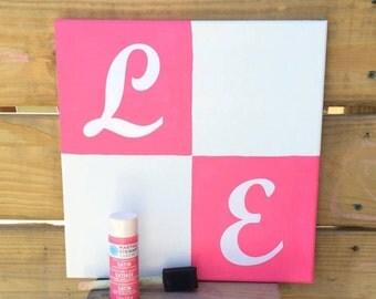 "DIY ""Love Hand Print and Footprint"" Canvas Kit"