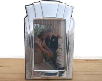Silver Photo Frame, Hallmarked Silver Picture Frame, Art Deco Style Silver Photograph Frame - No. DS_2