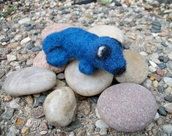 Needle Felted Seal, Handmade Wool Animal, Pocket Pet, FeltWithAHeart