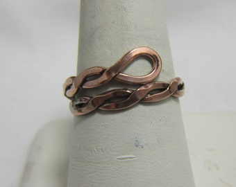 Copper Wire Ring, Copper Band, Adjustable Ring, Mens Ring, Ladies Ring, Thumb Ring, Boho Ring, Indie Ring, Wire Wrap Ring, Arthritis   #28