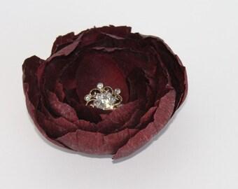 Bridal Hair Clip, Wedding Hair Accessories, Wedding Hair Comb, Weddings,Bridal Headpiece Burgundy Hear Clip