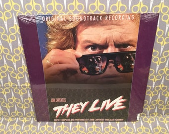 Sealed They Live Original Soundtrack Vinyl Record Album LP by John Carpenter Alan Howarth