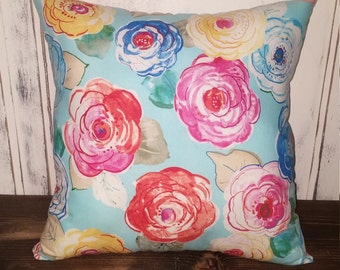 Floral Accent Pillow Cover, Decorative Pillows, Accent Pillows, Couch Cushion