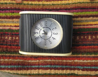 Vintage Westclox Black and White Travel Alarm