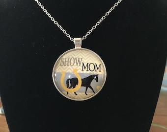 Show Mom  - Horse Necklace