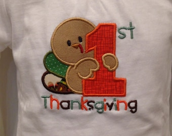 1st Thanksgiving Nightgown or Onsie