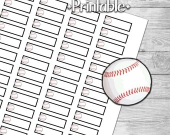 Baseball or Softball Reminder Planner Stickers for Planner- Print at Home- Digital File