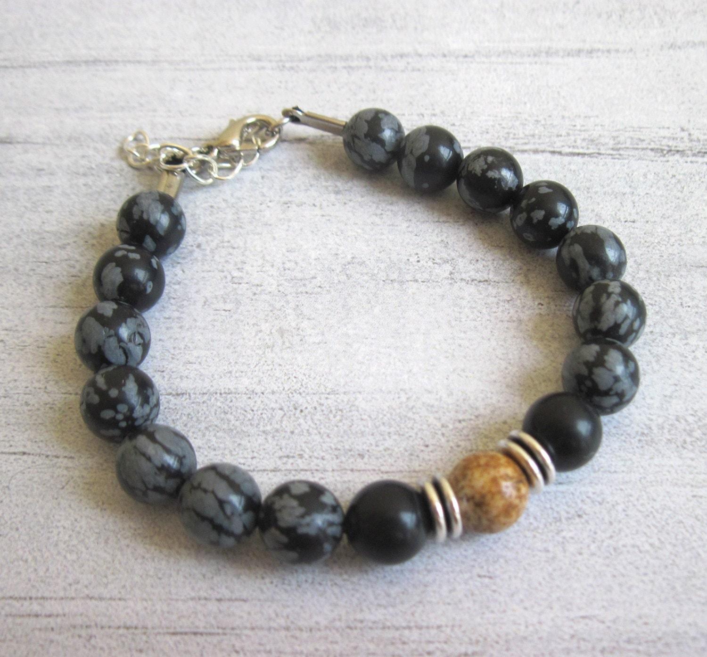 mens beaded bracelet mens bracelet gemstone bracelet for