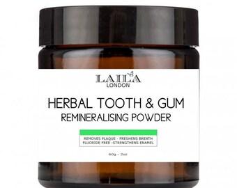 100% Natural Organic Flouride Free Herbal Remineralising Tooth & Gum Powder