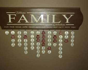 Personalized Family Celebrations Sign