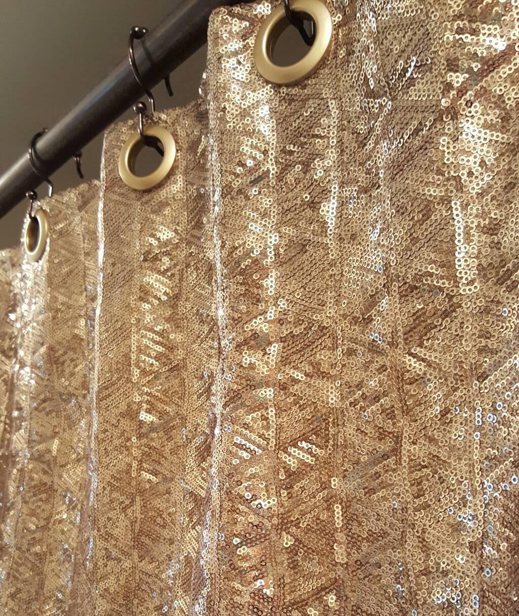 Sequin Shower Curtain Choose Your Color Sparkle Shower