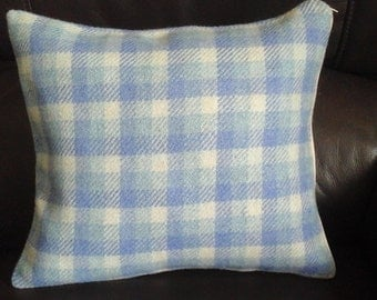 "100 % Pure New Wool Tweed Small size cushion / pillow cover 12 "" × 11 "" Double Sided"