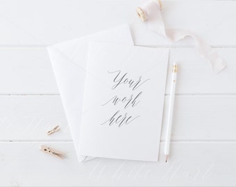 Styled stock photography - A5 wedding stationery mockup - card and envelope - High Res Jpeg + Psd Smart object - weddings, card, invitations