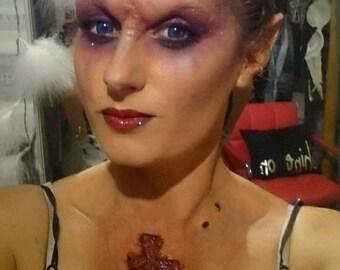 Vampire.bite marks. Latex. Prosthetic. Fancy dress. Character