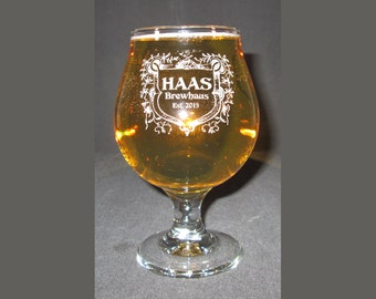 Belgian Beer Goblet, Engraved Beer Glass, Engraved Beer Goblet, Belgian Goblet, Personalized Beer Glass, Personalized Beer Goblet
