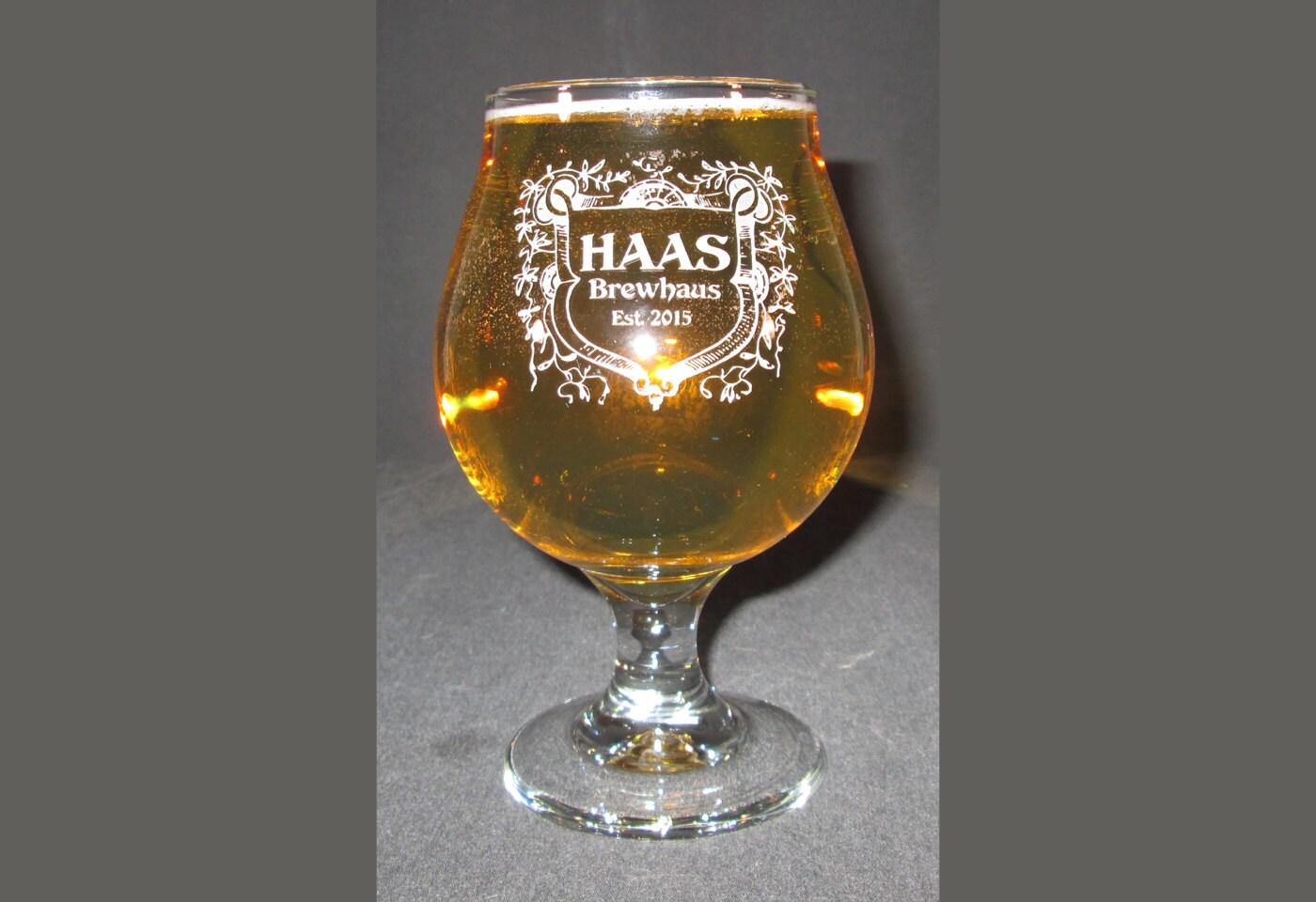 Belgian Beer Goblet Engraved Beer Glass Engraved Beer