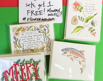 Buy 3 Note Card Sets, Get One Free!