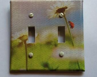 Ladybug double switchplate cover