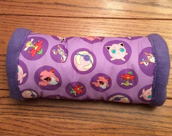 12 inch Purple Pokemon tunnel, for hedgehogs, guinea pigs, rats, sugar gliders and other small animals