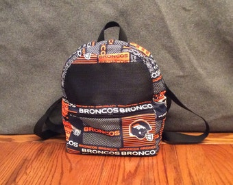 Backpack Carry Bag, Waterproof, Broncos Pattern, for Hedgehogs, Sugar Gliders, Rats, and other Small Animals