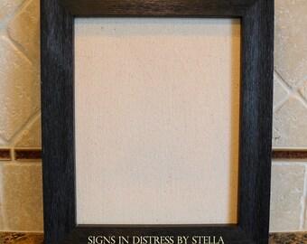 Black-Washed Frame for 8 x 10 prints - INCLUDES ARTWORK (P810-BK)