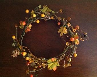 Autumn leaf fairy crown