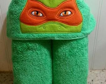 Orange Ninja Hooded Towel