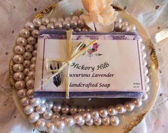 Luxurious Lavender Scented Handcrafted Soap, Rich and Creamy Lather