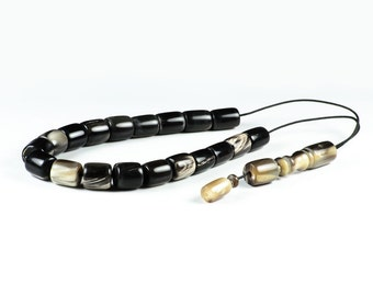 Reindeer Horns, Antlers Greek Worry Beads Komboloi | Prayer Beads Rosary | 15x11mm | 19 + 1