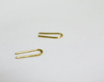 22k solid gold hook earrings.