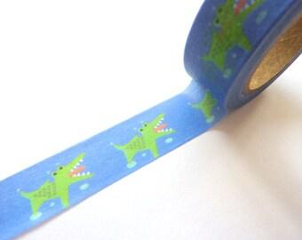 Cute Kawaii Crocodile Washi Tape 15mm x 10m