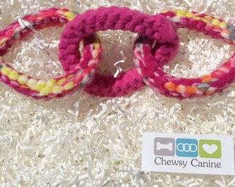 Custom Dog Toy Rings; dog chew toy; durable dog toy