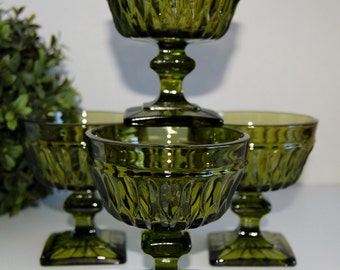 Set of Four Mount Vernon Sherbet Cups by Indiana Glass Co.