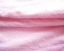 PINK Terry Towelling, Terry Cloth Fabric, Cotton Terry, Burp Cloth, Bibs, Baby hooded towels,Nursery Gifts, Guest Towels, QUARTER METRE