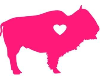 Buffalo Heart Vinyl  Decal