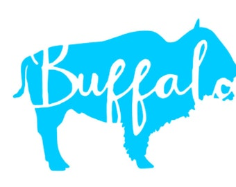 Buffalo Vinyl  Decal