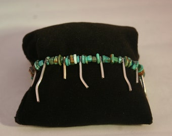 Turquoise & Silver Bracelet # 731