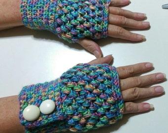 Puff stitch fingerless gloves/texting mitts
