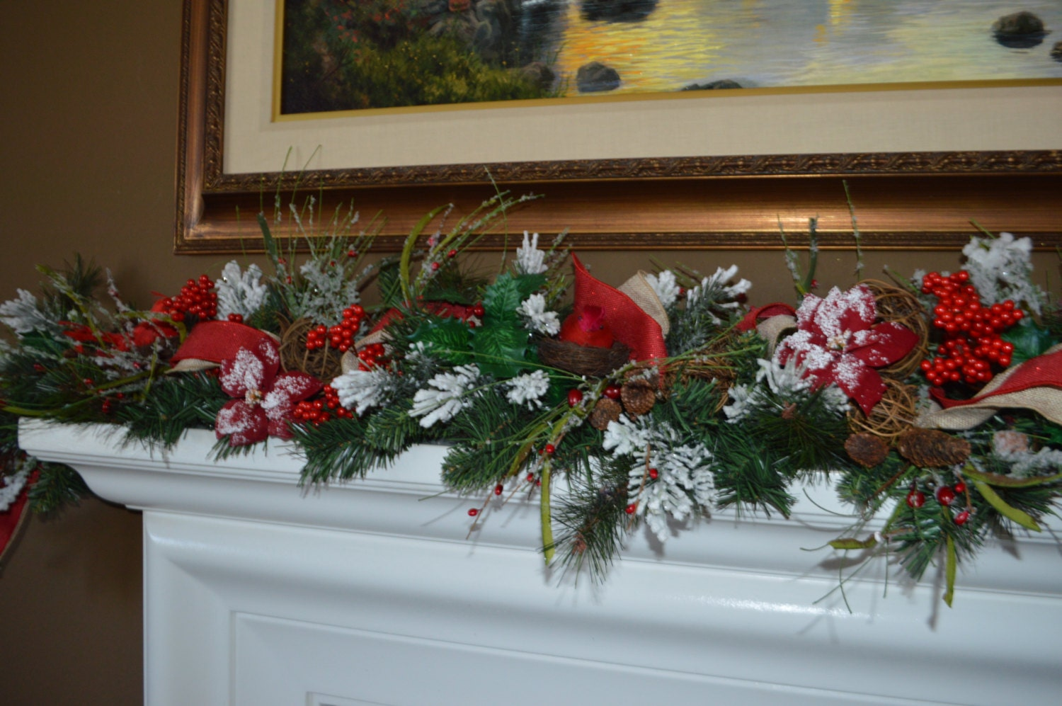 Christmas Garland Mantle Garland Fireplace By