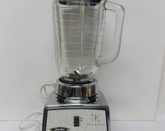 Vintage Oster Osterizer Solid State Galaxie Ten Retro Look Blender #641 USA Made