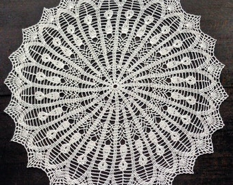 White round crocheted doily No.31