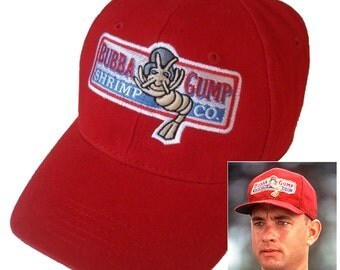 Forrest Gump Halloween costume Bubba Gump Shrimp Co Hat red adjustable Cap