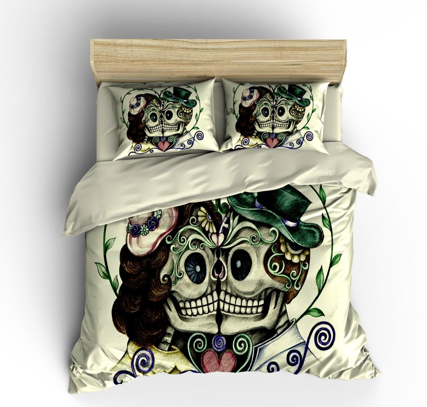 Skull Bedding Sugar Skull Duvet Cover Set Forever by