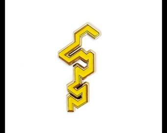 Geometric Lapel Pin, Enamel Pin, Hat Pin, Brooch