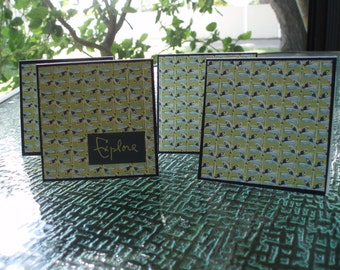 Everyday Blank 3x3 card set, Dragonfly Card Set, Blank Card Set