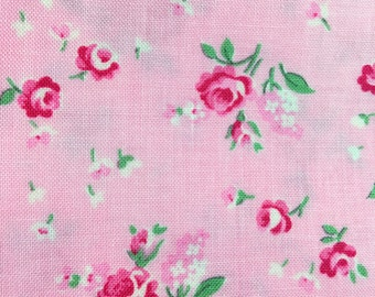 half yard- Billet-doux by Verna Mosquera -Baby rosebud in pink