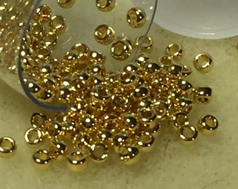Miyuki Rounds 15/0 - 24KT Gold Plated - Approx.5GM/TB (15-9191)