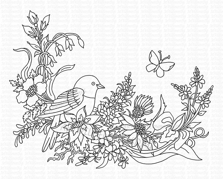 Wild Flower Pages For Adults Coloring Pages