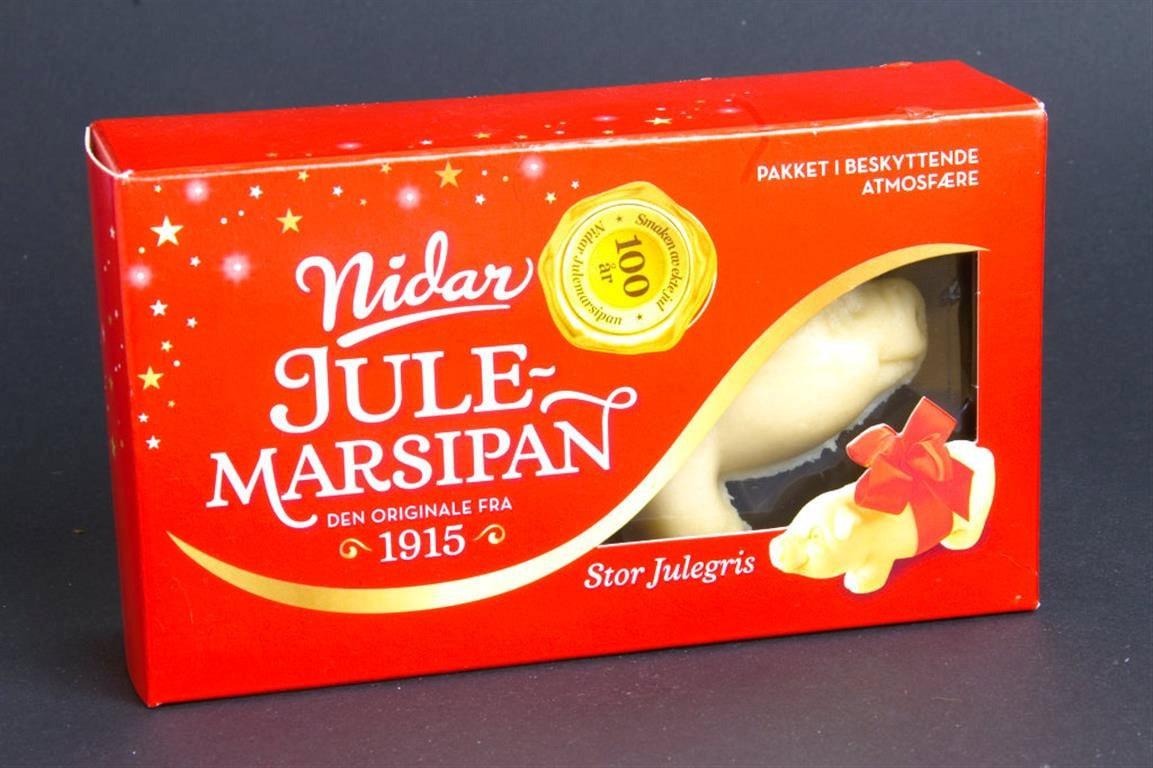 Norwegian Large Marzipan Pig Candy Nidar Stor Julegris  |Scandinavian Marzipan Pig
